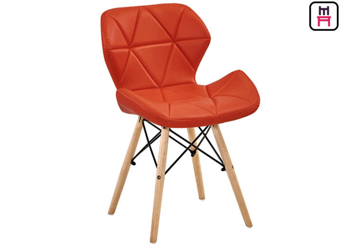 Plastic Canteen Chairs Leather Seats Armchair , Eames Plastic Chair Replica