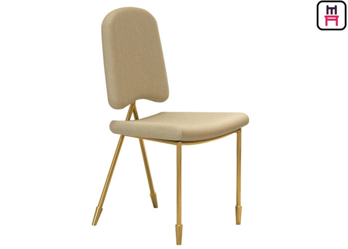 Nordic Velvet Dancing Chair Stainless Steel Restaurant Chairs With Arrowhead Gold Leg