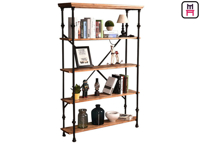 Restaurant / Bar / Club Loft Style Shelving Crossed Tube Design Frame Rustic Chic Storage
