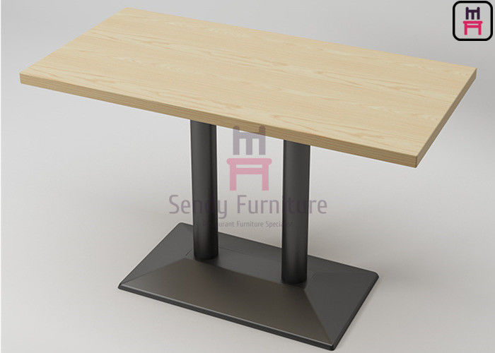4 person / 6 person Plywood / Laminate Waterproof Dining Table For Restaurant Use